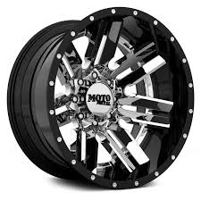 moto metal wheels. moto metal® - mo202 chrome center with black and milled lip moto metal wheels 8