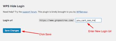 how to change wordpress admin login url