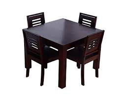 wooden dining table. Brilliant Table Ringabell Square Four Seater Solid Wood Dining Table Mahogany Finish Inside Wooden D