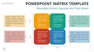 free matrix for powerpoint with rounded corner squares
