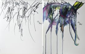 artist turns her two year olds sketches into