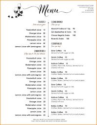 Cafe Menu Template Word Template Ideas Download Free Menu