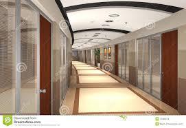 hallway office. 3d rendered office hallway stock photos i