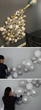 champagne balloon wall decor