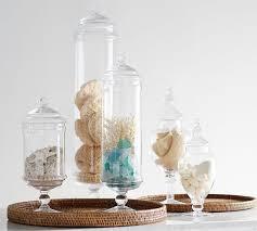 PB Classic Glass Apothecary Jars | Pottery Barn - medium for marshmallows,  small for cinnamon