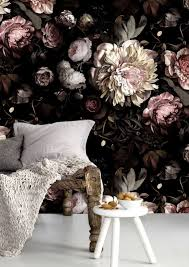 modern large fl wallpaper