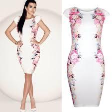2014 New Women Summer Casual Dress Elegant Celebrity White Print