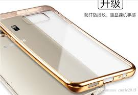 samsung galaxy s6 gold case. cool luxury coque for samsung galaxy s6 edge case clear transparent gold plating soft tpu back cover plus protective shell otter cell s