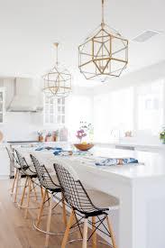 White Pendant Lights Kitchen White Kitchen With Brass Pendants Heart Of The Home Pinterest