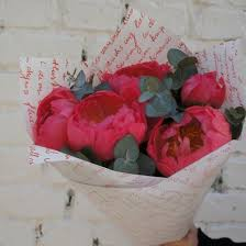 <b>Букет Coral</b> with eucalyptus за 3900 р. - Доставка цветов в Москве