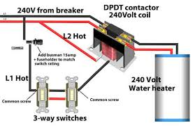 control water heater using switch Photo Switch Wiring Schematics For Lighting Contactors 3 way switches control water heater Square D Lighting Contactor