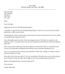 Cover Letter For Production Engineer New Projectspyral Collection