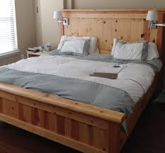 King Bedroom Suite Bed Frame Blueprints Free Farmhouse Bed King Do It Yourself