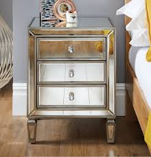 mirrored side table. More Views. Venetian Mirrored Bedside Table Side M