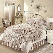 rosette bedding ruffled romance champagne rosette comforter bed set rosette bedding anthropologie knock off