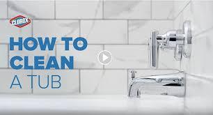 how to clean a bathtub shower