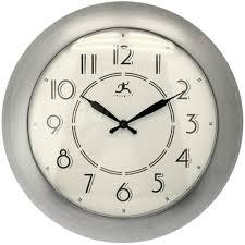 berkeley brushed nickel wall clock by infinity instruments office wall clocks