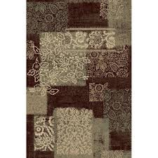natco encore nadya dark wine 5 ft x 8 ft area rug