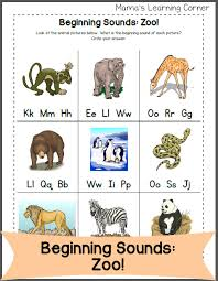 Click on any of the items below to download. Beginning Letter Sounds Zoo Edition Mamas Learning Corner