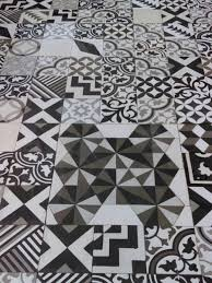 black and white patchwork art by indigo cement tile art on factory second