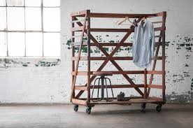Rolling Coat Rack With Shelf Wardrobe Racks amazing rolling clothing racks Heavy Duty Clothes 82