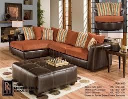 complete living burnt orange furniture