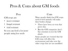 genetically modified food pros and cons powerpoint co genetically modified food gm foods ppt online gm foods pros and cons essay