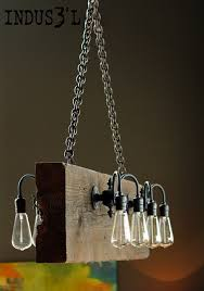 rustic dining room lights. Reclaimed Wood Beam Chandelier Rustic-dining-room Rustic Dining Room Lights C