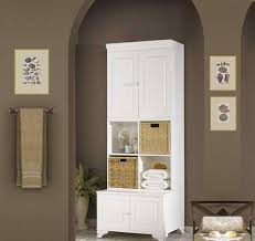 Creativity Tall Bathroom Storage Cabinets Classic Cabinet Home Design To Decorating