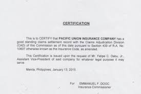 Pacific Union Insurance Company Fire Inland Marine Motor