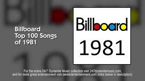 Billboard Top 100 Songs Of 1981 Tracks 1 20