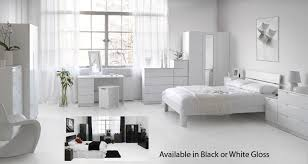 black or white furniture. The Orient Modular Bedroom Furniture Range Is Finished In High Gloss Designer Black Or White. Designed To Be Fully Fitted Free Standing Choose From White E