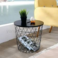 basket side table round wire colinmackenzie ikea round glass kitchen table