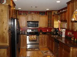 maple kitchen cabinets with black appliances. Image Of: Maple Kitchen Cabinets With Black Appliances