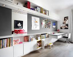 modern office shelving. Toronto Ultra Modern Office With Contemporary Wall Decals Kids And Design-build Space Shelving