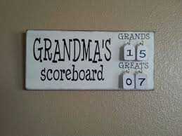 Grandma's Scoreboard with Grands and Greats tally tags grandparent, mother,  father, gift pregnancy reveal | gift ideas | Pinterest | Grandparents, ...