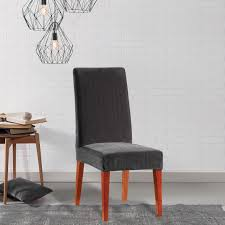 sure fit stretch pinstripe dining room chair slipcover on orders over 45 overstock 10296079