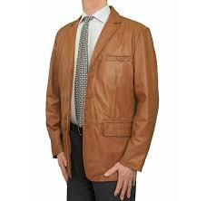 ashwood mens superior luxury real leather blazer jacket 3 ons black brown tan blue tan