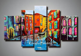 2018 100 hand painted abstract 5 panel canvas art living room hand painted abstract canvas art