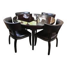 topic to ralph lauren dalton leather nailhead cocktail table chairish