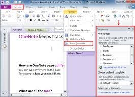 office microsoft templates where is templates in microsoft onenote 2010 2013 and 2016