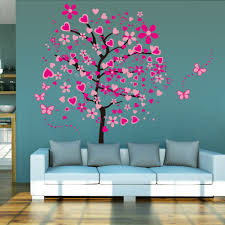fullsize of captivating large wall mural stickers 14 r pink peach tree erfly wall stickers removable