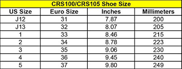 J12 Shoe Size Chart Chicago Boys Sidewalk Skate