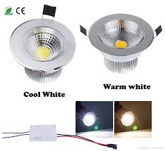 diammable 7 watts cob led ceiling light downlight warm cool white spotlight lamp recessed lighting fixture halogen bulb replacement mr16 led