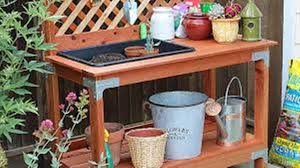 outdoor potting tables w sink