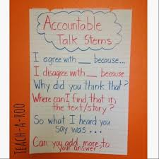 Accountable Talk Anchor Chart Accountable Talk In Close Reading