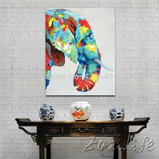 oil painting on canvas wall pictures paintings for living room wall art canvas pop art elephant modern abstract hand painted 2 in painting calligraphy
