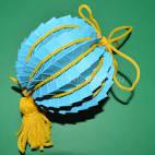 Как сделать из бумаги елочную игрушку шарик 82