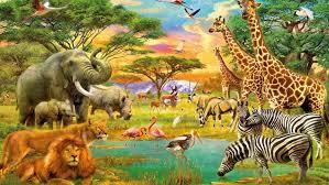 african animals wallpaper high resolution. Brilliant Resolution African Animals Jungle Lion Zebra Giraffe Elephants Flamingo Art Wallpaper  Hd 19201200 For High Resolution T