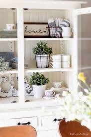 how to style a hutch for spring